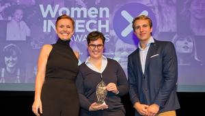 L-R Pixie McKenna, Talita Holzer (Rising Star Award Winner) & Will Brightling