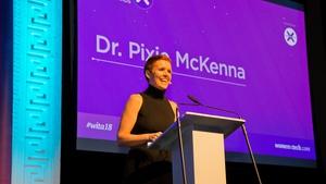 Dr Pixie McKenna speaking at the Women In Tech Awards 2018