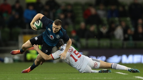 Andrew Conway scored a hat-trick in Ireland's 57-14 win over the USA in the Aviva Stadium last night