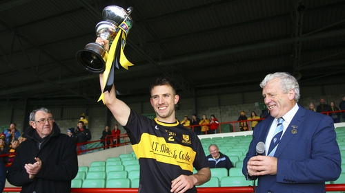 Dr Crokes captain John Payne lifts the O'Connor Cup as Crokes collect another Munster crown
