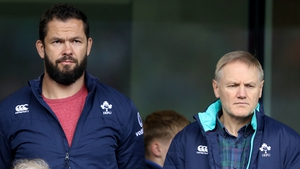 Andy Farrell (L) will replace Joe Schmidt after next year's World Cup