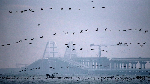 The Crimean Bridge across the Strait of Kerch