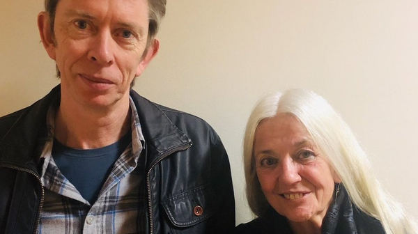 Mystery Train host John Kelly and poet Paula Meehan