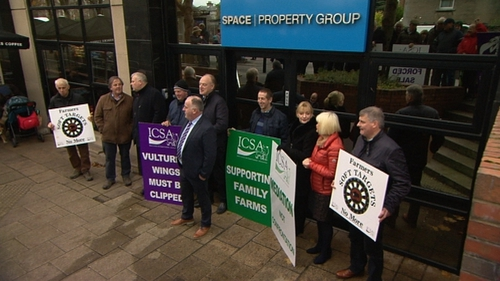 The protest took place at the BidX1 offices in Dublin