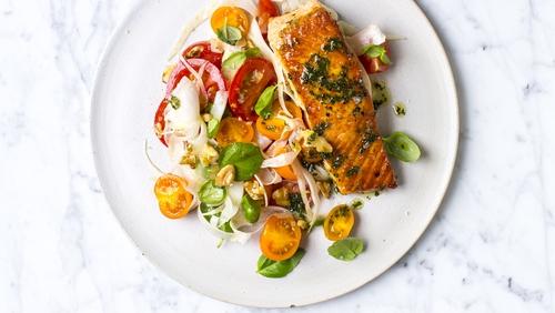 Basil Butter Salmon