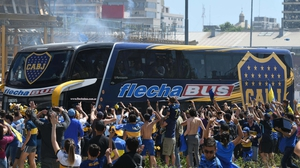 The Boca team bus was attacked on it's way to River Plate's stadium