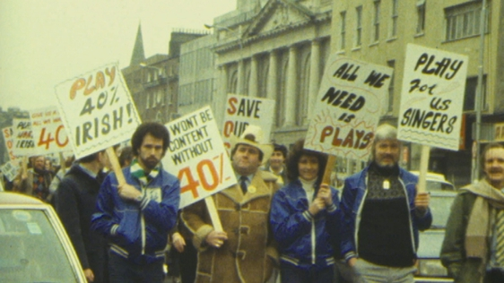 Irish Musicians Protest (1983)