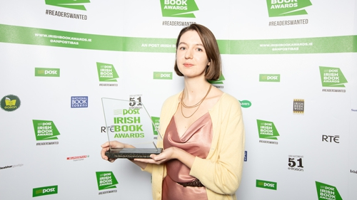 Sally Rooney, winner of the Novel Of The Year prize at the Irish Book Awards