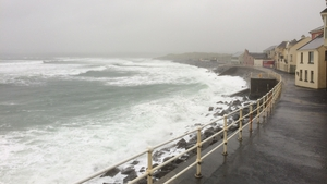 Rough seas in Lahinch, Co Clare