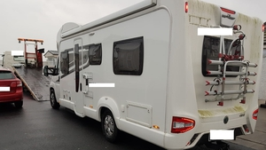 A 2016 camper van seized in the search
