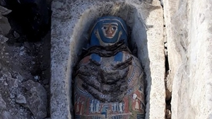 Three of the eight mummies are said to be in good condition (All images: Egypt's Ministry of Antiquities)