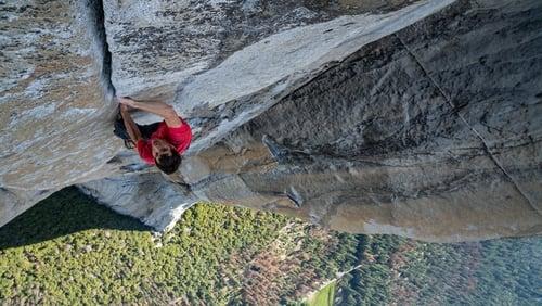 Free Solo - Alex Honnold climbing El Capitan in Yosemite National Park in the US