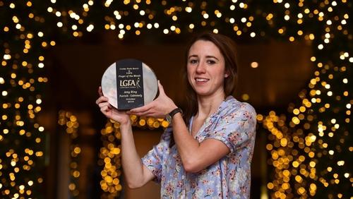 Amy Ring picks up her award