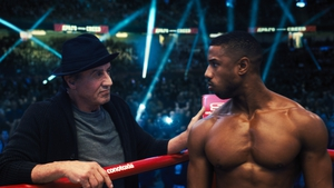 Sylvester Stallone and Michael B Jordan in Creed II