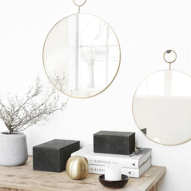 Dust Design The Loop Brass Mirror