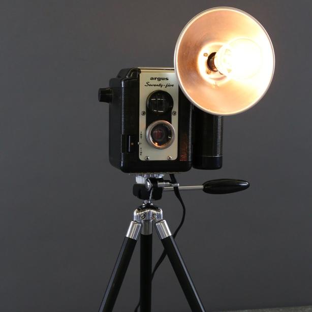 Irish Girl in Brooklyn Argus Camera Lamp