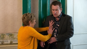 Jean is horrified by Alfie's shock appearance on EastEnders