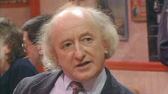 Michael D Higgins in the 'Nighthawks' diner (1988)