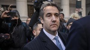 Michael Cohen leaving court in Manhattan