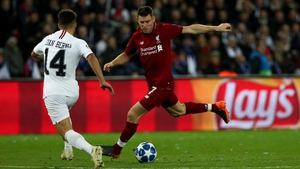 The Liverpool vice captain in action in Paris