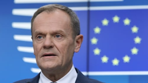 Donald Tusk issued a statement this evening