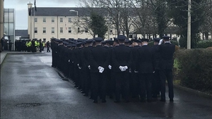 Today's passing out ceremony for 199 new gardaí at the Garda College in Templemore