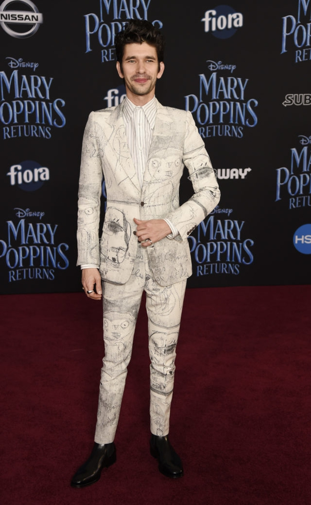 Ben Whishaw poses at the premiere of Mary Poppins Returns (Chris Pizzello/AP)