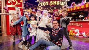 Ryan Tubridy and some of his co-stars -
