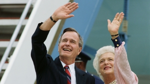 Barbara Bush campaigned at her husband's side throughout his political career