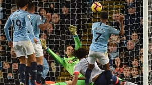 Raheem Sterling taps home Manchester City's second goal