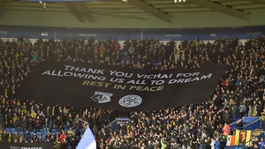 Watford fans brought banners to the King Power Stadium