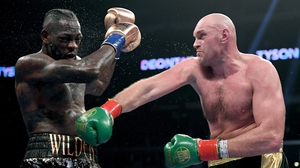 Tyson Fury survived two heavy knockdowns to outbox his American opponent