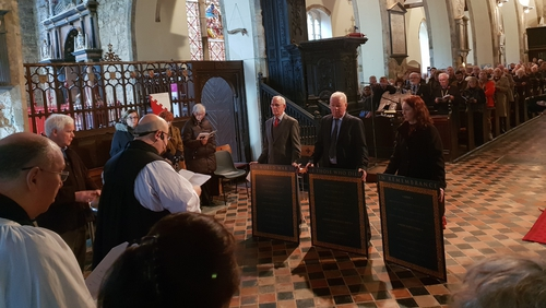 Representatives from the Army and the Naval Service, the Connacht Rangers, the Munster Fusiliers and the RNLI attended the service