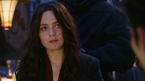 Hera Hilmar as Hester Shaw in Mortal Engines