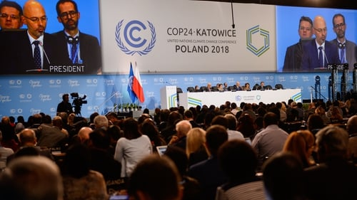 Worldwide delegations take part in the UN COP24 Climate Change Conference today