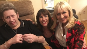 Miriam with Shane MacGowan and Victoria Mary Clarke