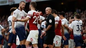 Eric Dier's celebrations sparked ugly scenes at the Emirates