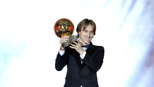 Luka Modric is the first player other than Lionel Messi or Cristiano Ronaldo to win the award since 2007
