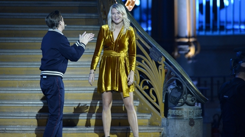 Norwegian international Ada Hegerberg with French DJ Martin Solveig after she won the 2018 Ballon D'Or