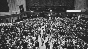 New York Stock Exchange, November 14 1972 as the Dow Jones Industrial averages closed over the 1,000 mark for the first time in the history of Wall Street. Photo: Bettmann/Getty Images