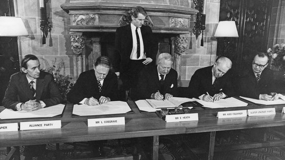 Signing of the Sunningdale Agreement (1973) copyright Getty Images, ref. 940109578.