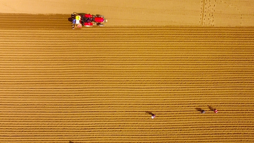 """""""The modern tractor is also an integrated part of a drive towards what is called """"precision agriculture""""."""" Photo: VCG/VCG via Getty Images"""
