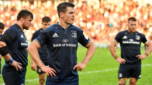 Leinster players react to their Champions Cup pool defeat to Toulouse