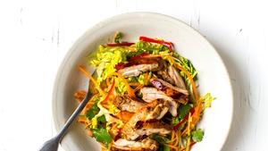 Sticky Soy Chicken Salad