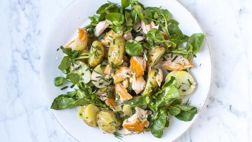 Hot Smoked Salmon Salad
