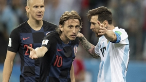 Modric and Messi speak during the World Cup in Russia