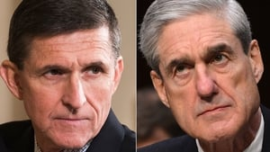 Michael Flynn (L) has helped Special Counsel Robert Mueller's investigation