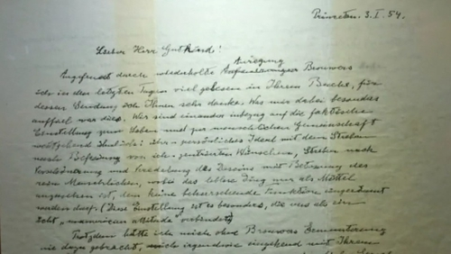 The letter was written in German and had previously been sold in 2008 for $404,000