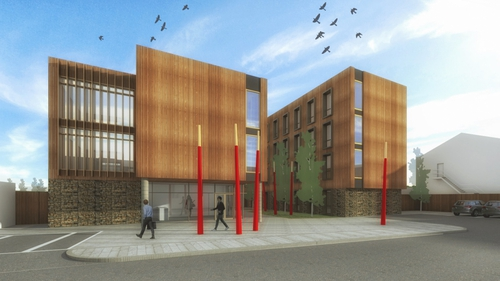 An artist's impression of Round Hill Capital's proposed student accommodation in Cork