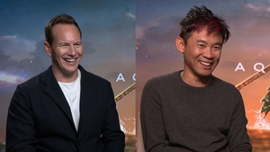 Aquaman star Patrick Wilson and director James Wan speak about the challenges of shooting the superhero epic